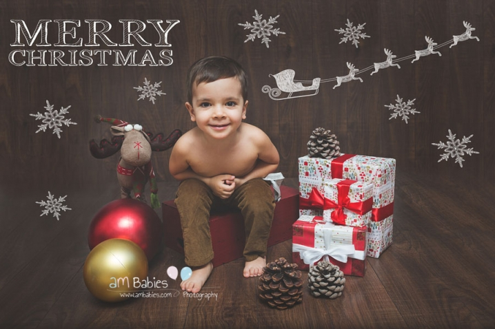 Baby Xmas Card